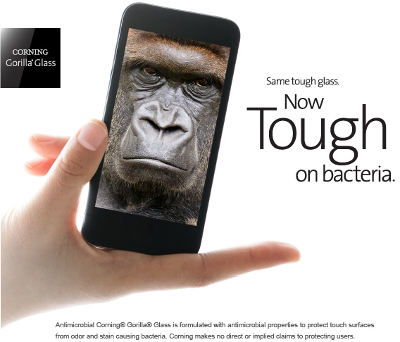 Corning Anitimicrobial Gorilla Glass