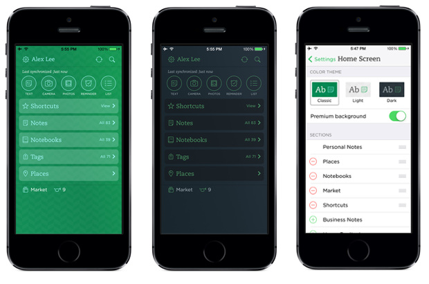 Evernote 7.3 for iPhone