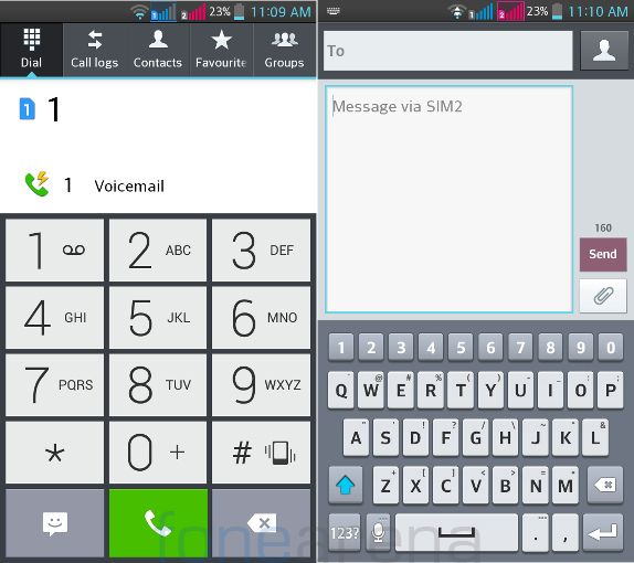 LG G Pro Lite Dual - Dialer and Messaging