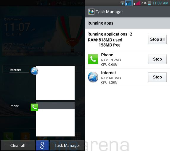 LG G Pro Lite Dual - Multitasking and Task Manager