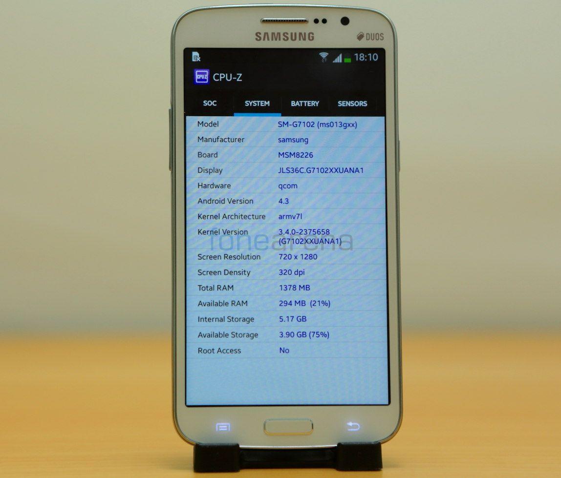 Samsung Galaxy Grand 2 Benchmarks