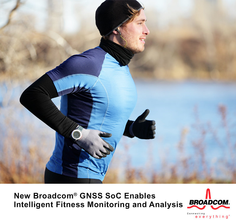 Broadcom GNSS SoC for Wearables