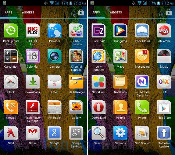 Intex Aqua Octa Apps