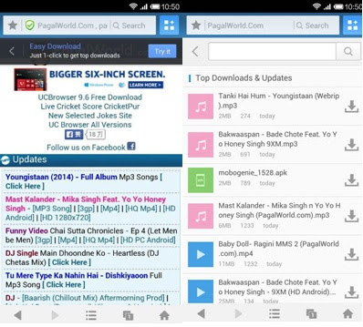 UC Browser 9 6 for Android brings easy download mode