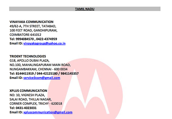 motorola-service-centers-india