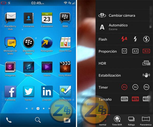 BlackBerry OS 10.3 leak