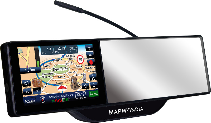 Mapmyindia Launches Smart Mirror With Rear View Mirror And Gps