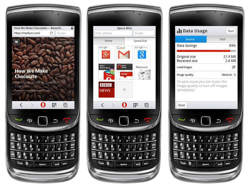 Opera Mini 8 for Java and BlackBerry brings new UI, night