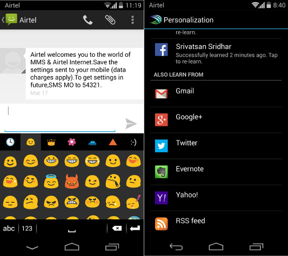 8ae275fb0c8 SwiftKey Beta for Android updated with option to learn from Evernote and  Google+