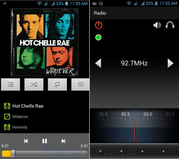 Xolo Q1100 Music Player and FM Radio