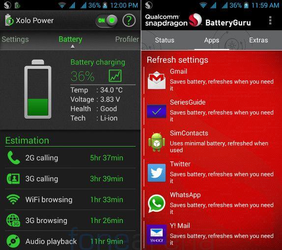 Xolo Q1100 Xolo Power and Battery Guru