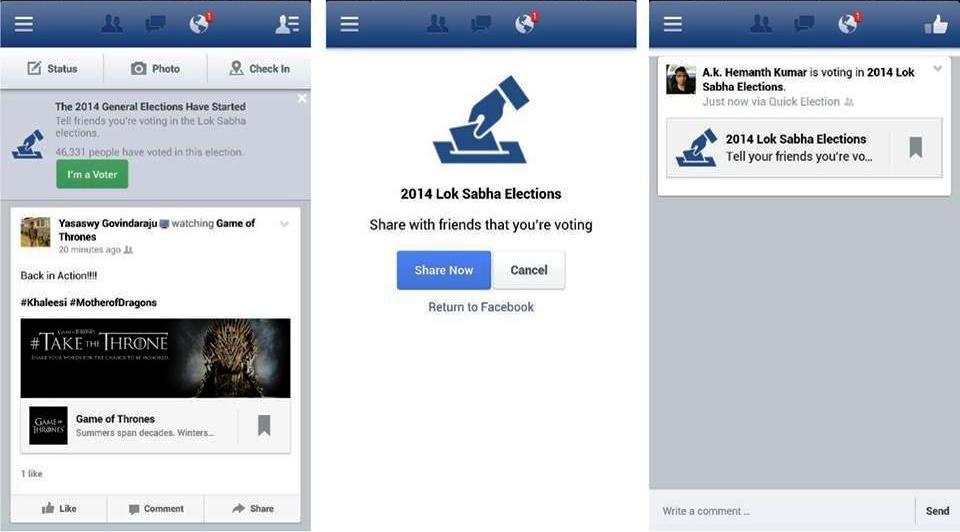 Facebook- I'm a voter