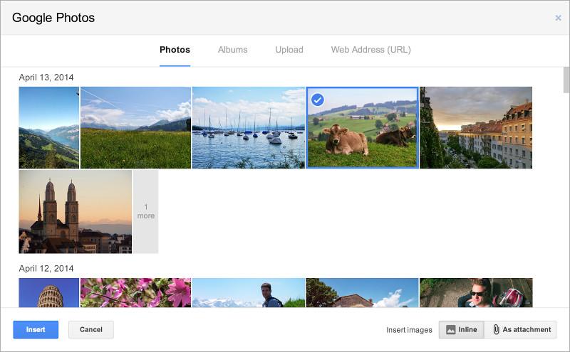 Gmail insert photo