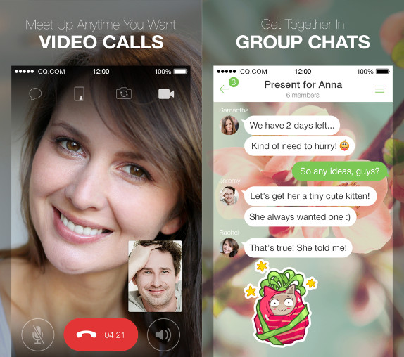 ICQ app for iOS updated with new design, video calls, group chats