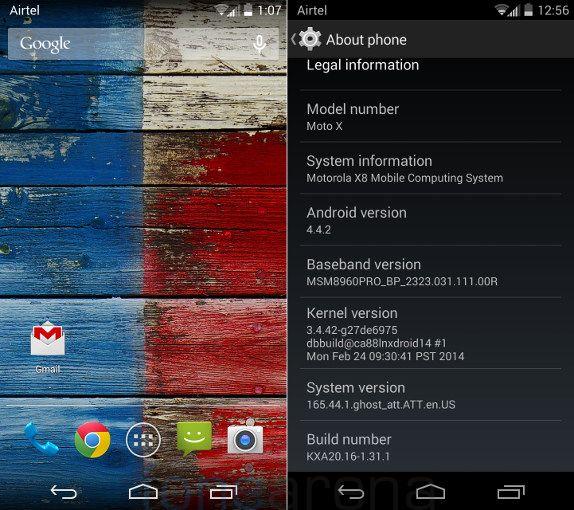 Motorola Moto X Android OS