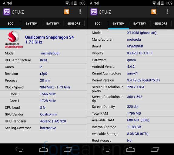 Motorola Moto X CPU