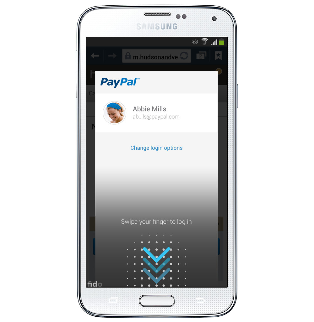 Paypal Samsung Galaxy S5 Biometric authentication