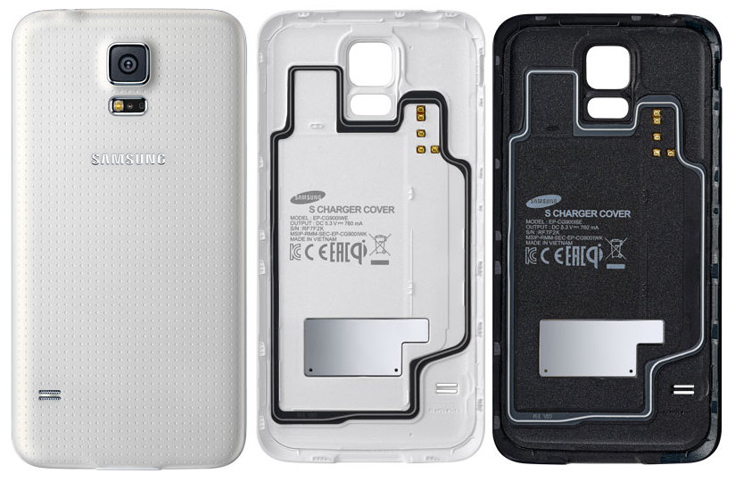 factory authentic 4b5a1 9482d Samsung Galaxy S5 Wireless Charging Covers unveiled