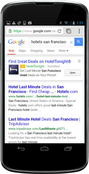 Google to offer mobile app install ads in Search and YouTube