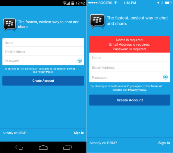 BBM 2.2 for Android and iPhone
