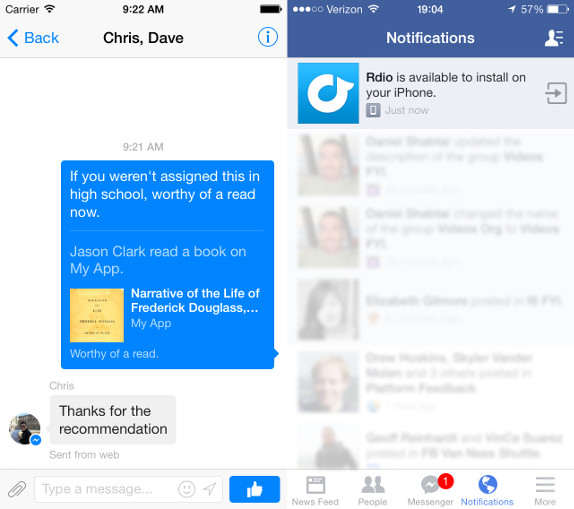 Facebook unveils Mobile Like Button, Message Dialog and more