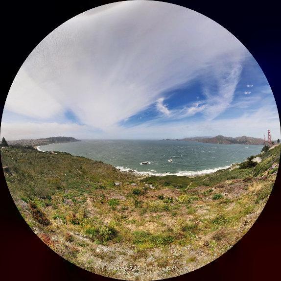 Google Camera Panorama mode Fisheye