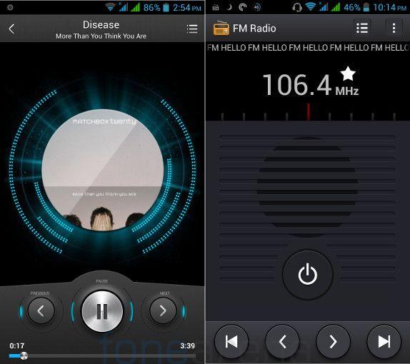Lava Iris 504Q+ Music Player and FM