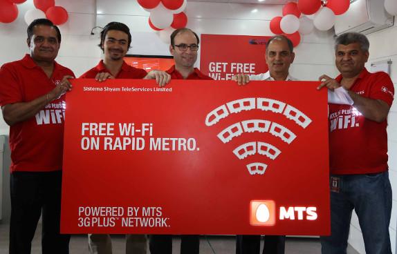 MTS Free WiFi on Rapid Metro