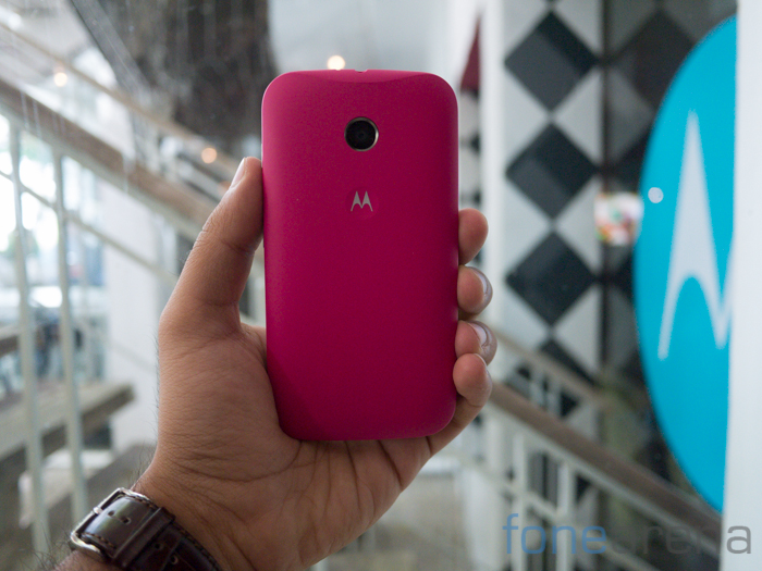 new style 6e5c7 dde2a Moto E back covers now on sale in India