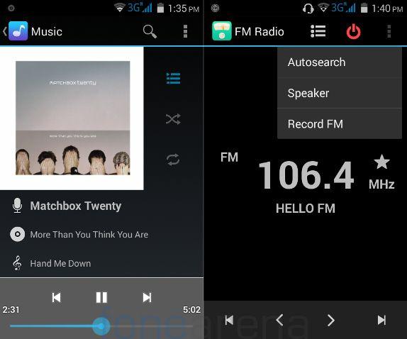 Micromax Unite 2 Music Player and FM Radio