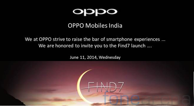 Oppo Find 7 India launch