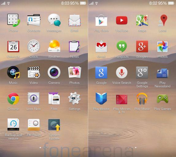 Oppo R1 Apps