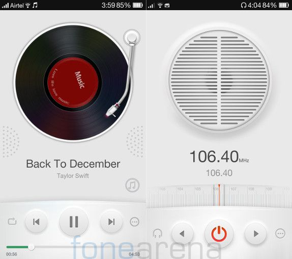 Oppo R1 Music Player and FM Radio