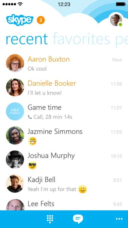 Skype iphone-redesign