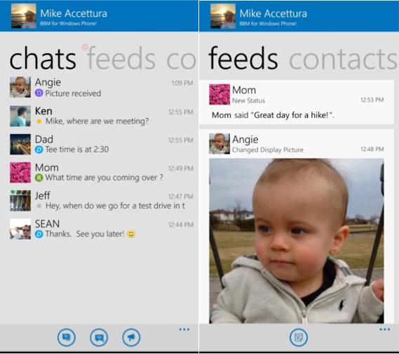 BBM for Windows Phone Beta