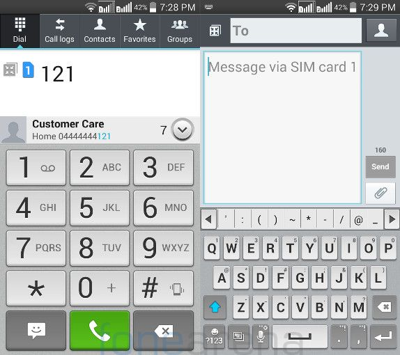 LG L90 Dual Dialer and Messaging