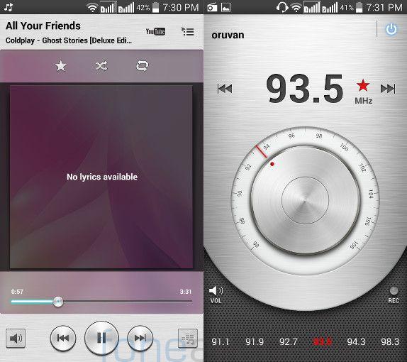 LG L90 Dual Music Player and FM Radio