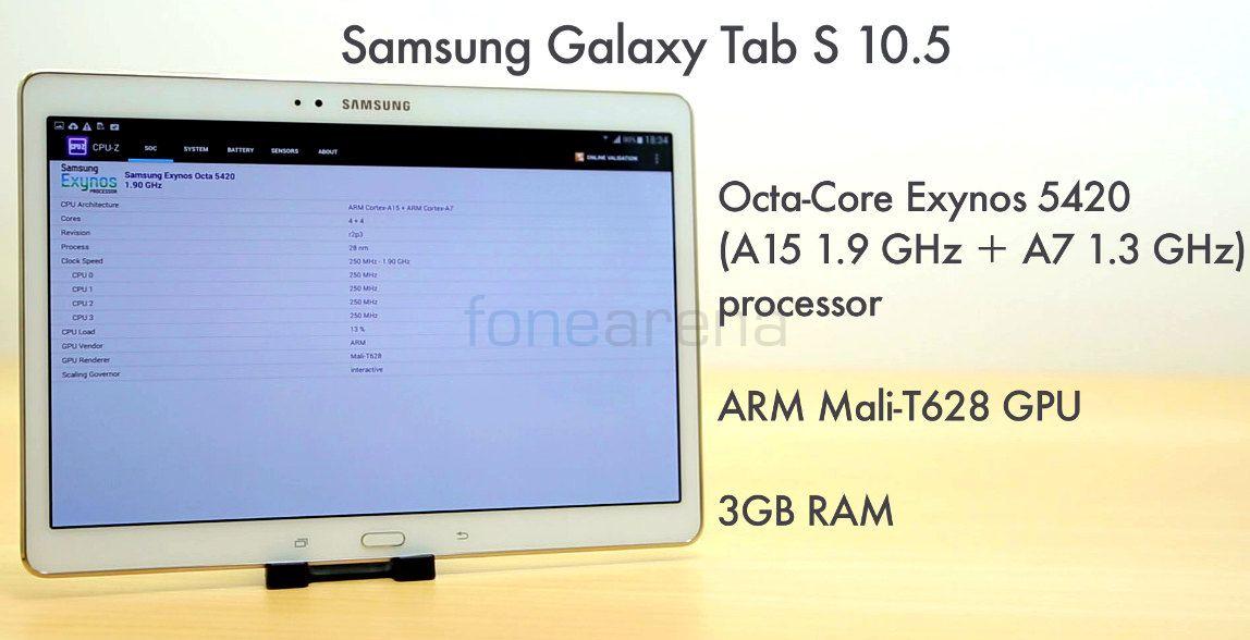 Samsung Galaxy Tab S 10.5 Benchmarks