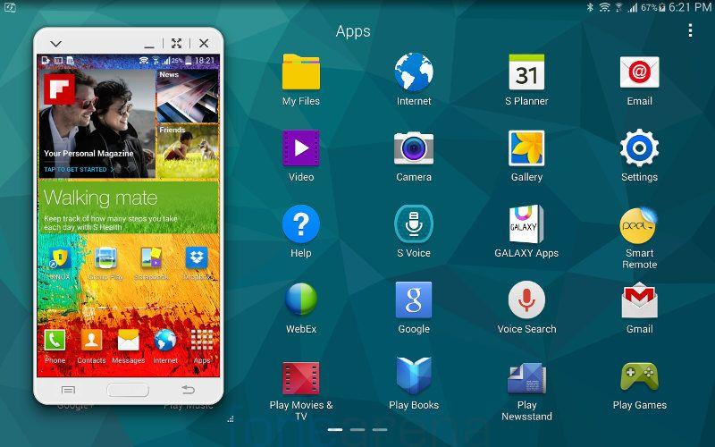 Samsung Galaxy Tab S 10.5 SideSync 3.0