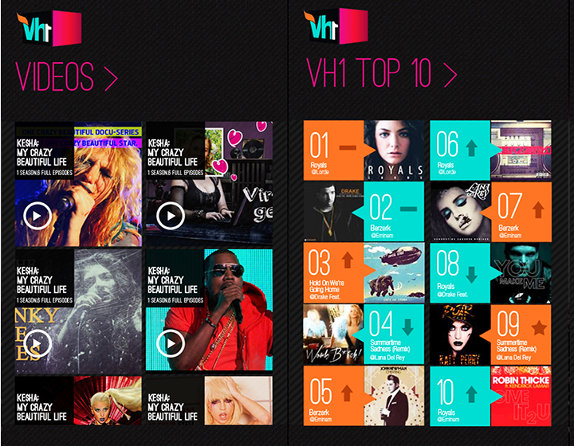 Vh1 app released for Android, iPhone, iPad and Windows Phone