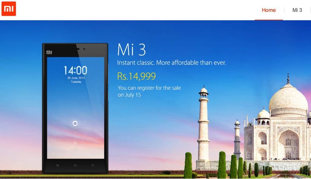 Xiaomi Mi3 India Launch