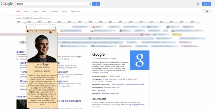google interactive timeline