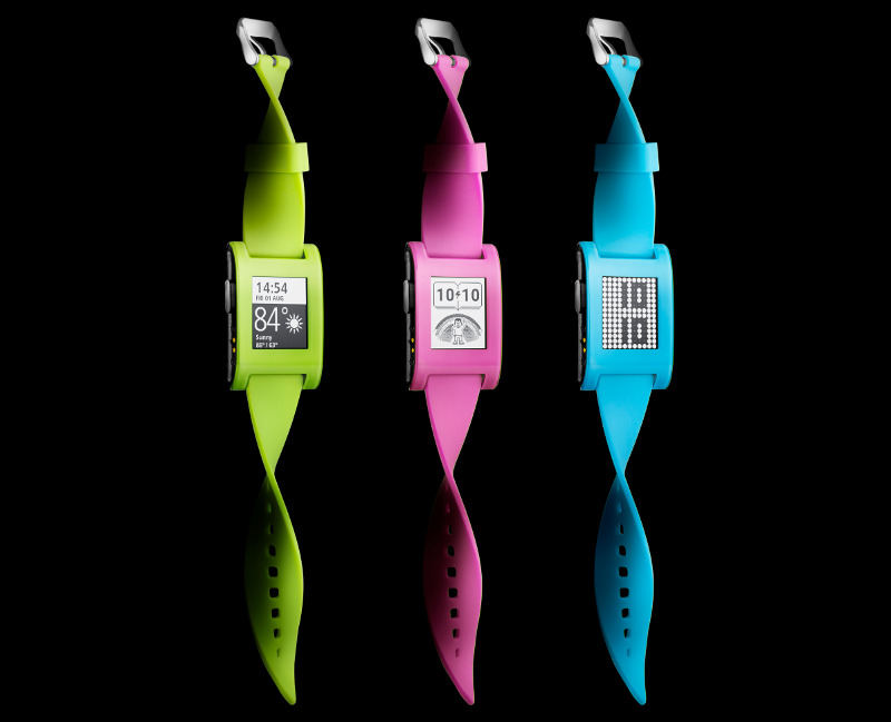 Pebble Fresh Green, Hot Pink and Fly Blue