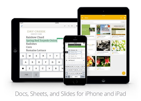 google rolls out slides app for iphone and ipad updates doc and sheets
