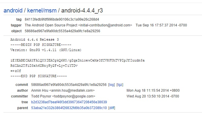 Kernel Source code android one