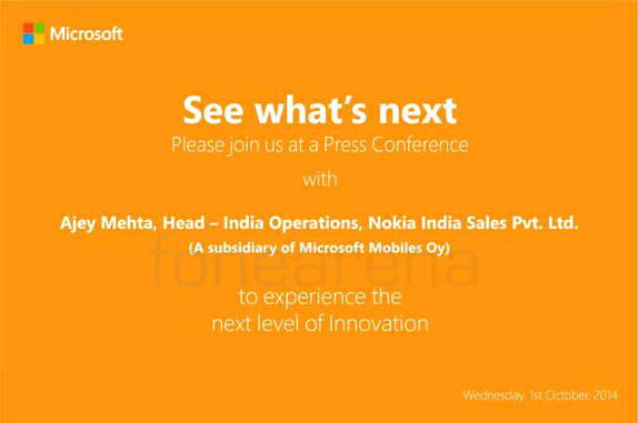 Nokia Lumia 830 and 730 India launch invite