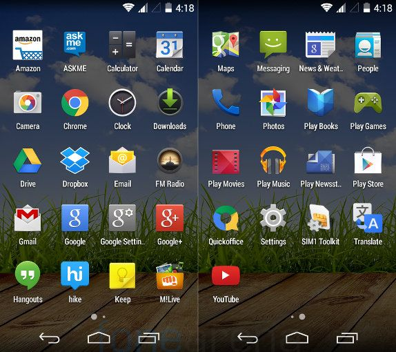 Micromax Canvas A1 Apps