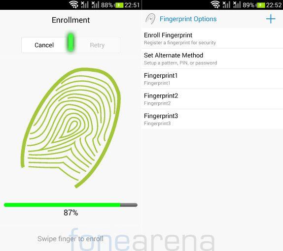 Xolo Q2100 Fingerprint Sensor