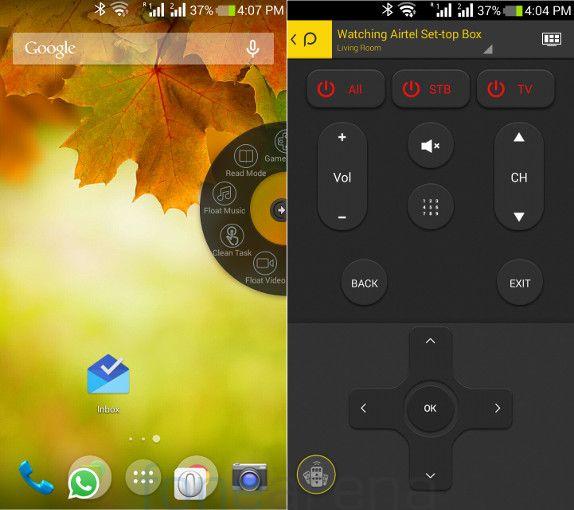 Xolo Q2100 Flot Window and Peel Remote App