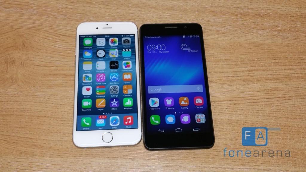 huawei vs iphone 6